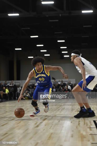 Kevin Young of the Santa Cruz Warriors drives to the basket against the Lakeland Magic during the NBA G League Winter Showcase on December 20, 2018...