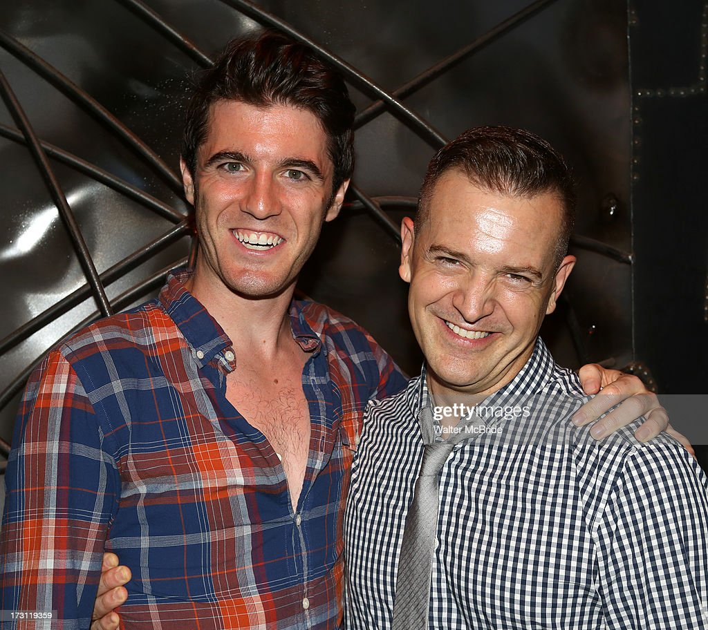 Kevin Zak and Stephen Bienskie attend the closing night party for 'Silence! The Musical' at Elektra Theatre on July 7, 2013 in New York City.