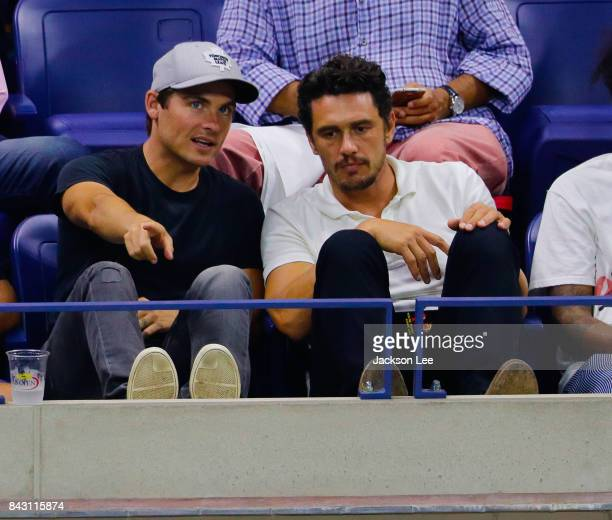 Kevin Zegers and James Franco are seen during day 9 of the 2017 US Open Tennis Championships at Arthur Ashe Stadium on September 5 2017 in New York...