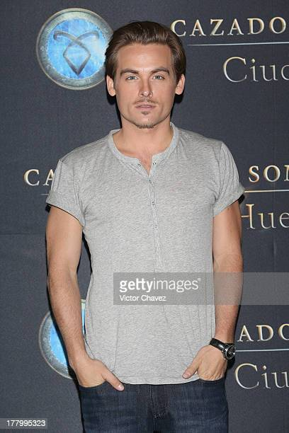 Kevin Zegers attends 'The Mortal Instruments City of Bones' Mexico City photocall at St Regis Hotel on August 26 2013 in Mexico City Mexico