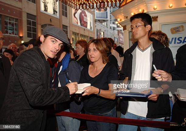 Kevin Zegers during 2005 Toronto Film Festival 'Transamerica' Premiere at Visa Screening Room in Toronto Canada