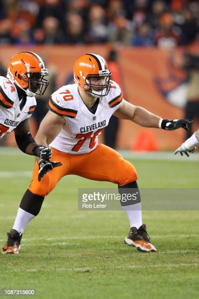 Kevin Zeitler of the Cleveland Browns in action during the game against the Denver Broncos at Broncos Stadium at Mile High on December 15 2018 in...