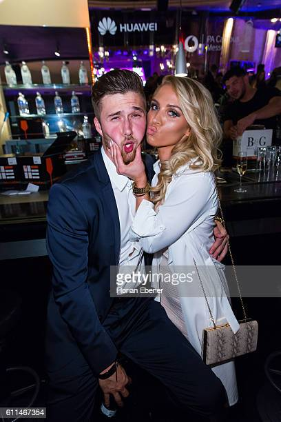 Kevin Zuber and Aneta Sablik attend the InTouch Awards 'Icons Idols' at Nachtresidenz on September 29 2016 in Duesseldorf Germany