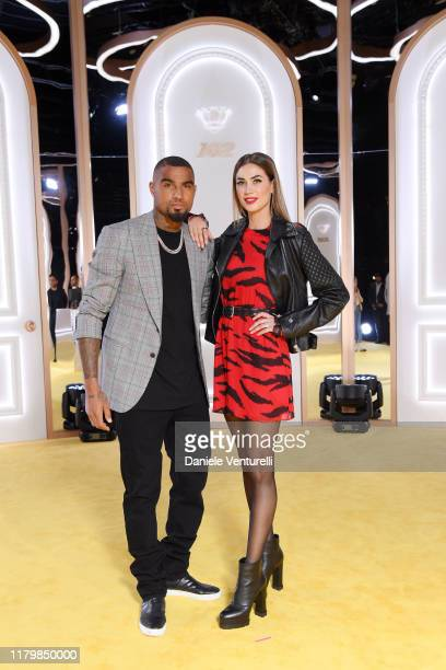KevinPrince Boateng and Melissa Satta attend the Calzedonia Leg Show 2019 on October 08 2019 in Verona Italy