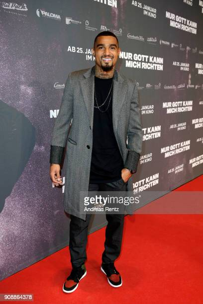KevinPrince Boateng attends the 'Nur Gott kann mich richten' premiere at CineStar Metropolis on January 22 2018 in Frankfurt am Main Germany