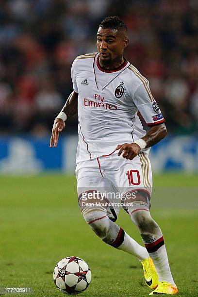 KevinPrince Boateng of AC Milan in action during the UEFA Champions League Playoff First Leg match between PSV Eindhoven and AC Milan at PSV Stadion...