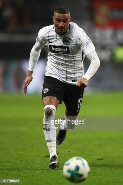 KevinPrince Boateng of Eintracht Frankfurt controls the ball during the Bundesliga match between Eintracht Frankfurt and SportClub Freiburg at...