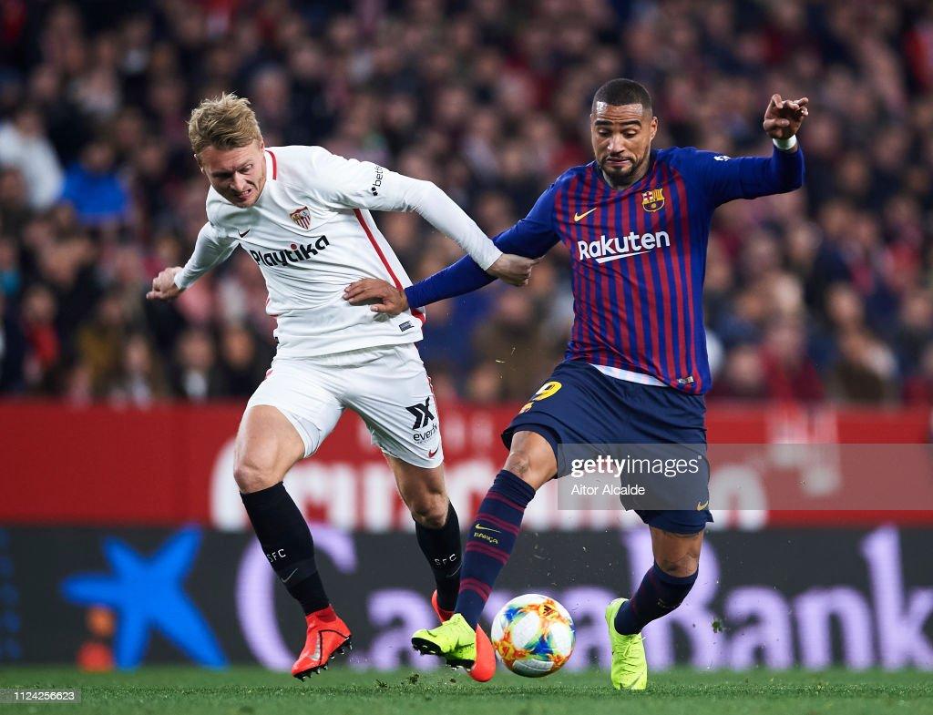 Sevilla v FC Barcelona - Copa del Rey Quarter Final : News Photo
