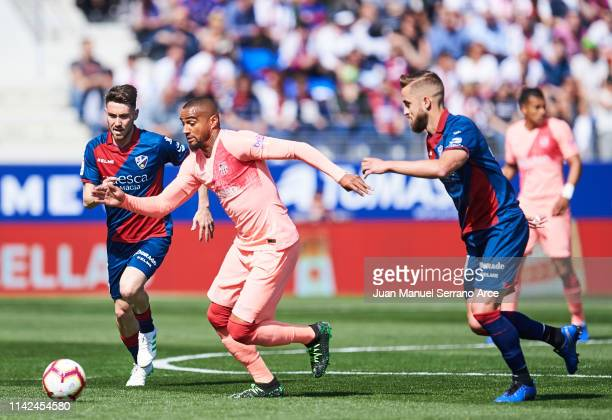 KevinPrince Boateng of FC Barcelona in action during the La Liga match between SD Huesca and FC Barcelona at Estadio El Alcoraz on April 13 2019 in...