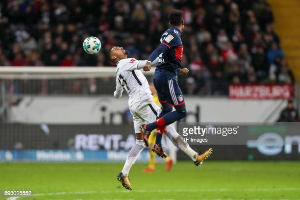 KevinPrince Boateng of Frankfurt and David Alaba of Muenchen battle for the ball during the Bundesliga match between Eintracht Frankfurt and FC...