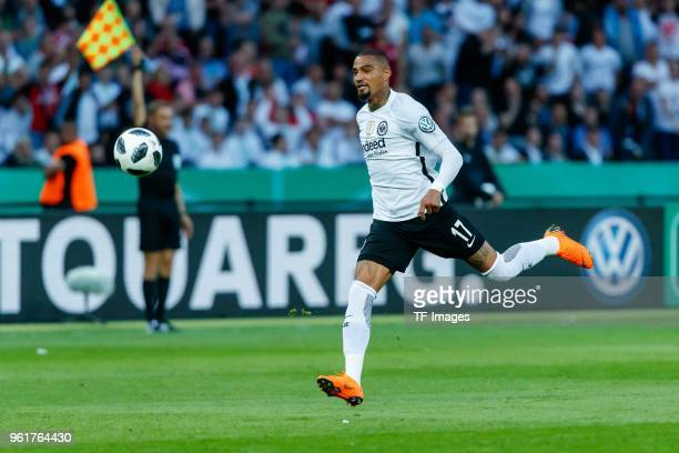 KevinPrince Boateng of Frankfurt controls the ball during the DFB Cup final between Bayern Muenchen and Eintracht Frankfurt at Olympiastadion on May...