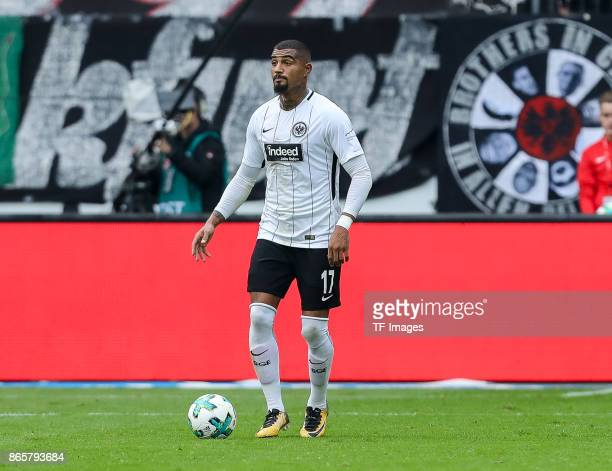 KevinPrince Boateng of Frankfurt controls the ball during the Bundesliga match between Eintracht Frankfurt and Borussia Dortmund at CommerzbankArena...