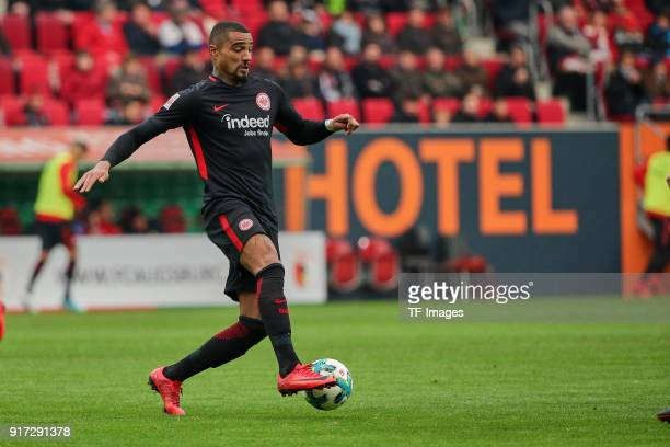 KevinPrince Boateng of Frankfurt controls the ball during the Bundesliga match between FC Augsburg and Eintracht Frankfurt at WWKArena on February 4...