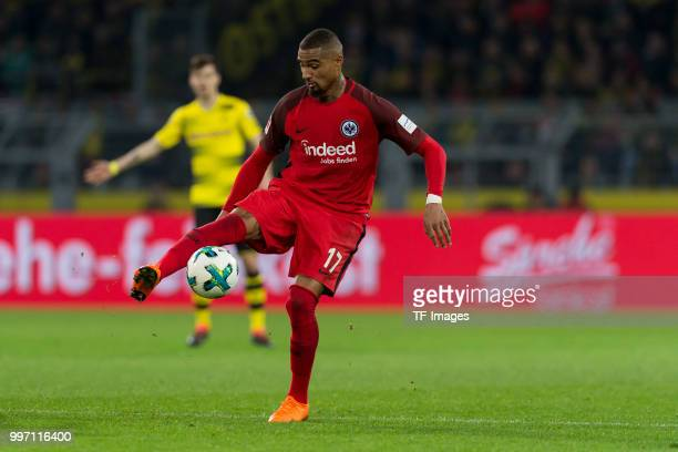 KevinPrince Boateng of Frankfurt controls the ball during the Bundesliga match between Borussia Dortmund and Eintracht Frankfurt at Signal Iduna Park...