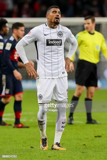 KevinPrince Boateng of Frankfurt looks dejected after the Bundesliga match between Eintracht Frankfurt and FC Bayern Muenchen at CommerzbankArena on...