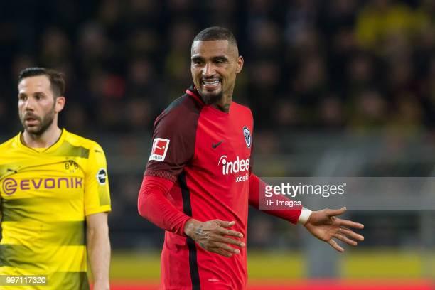 KevinPrince Boateng of Frankfurt looks on during the Bundesliga match between Borussia Dortmund and Eintracht Frankfurt at Signal Iduna Park on March...