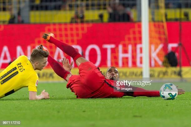 KevinPrince Boateng of Frankfurt on the ground during the Bundesliga match between Borussia Dortmund and Eintracht Frankfurt at Signal Iduna Park on...