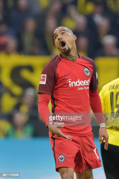 KevinPrince Boateng of Frankfurt shouts during the Bundesliga match between Borussia Dortmund and Eintracht Frankfurt at Signal Iduna Park on March...