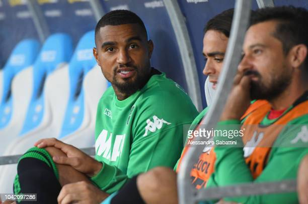 KevinPrince Boateng of Sassuolo looks on before the Serie A match between SPAL and US Sassuolo at Stadio Paolo Mazza on September 27 2018 in Ferrara...