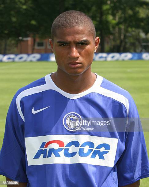 KevinPrince Boateng poses during the Team Presentation of Hertha BSC Berlin for the Bundesliga Season 2005 2006 on July 3 2005 in Berlin Germany