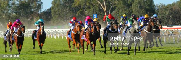 Kevlar Kid ridden by Alexandra Bryan wins the Insite Real Estate BM58 Handicap on May 08 2017 in Wangaratta Australia