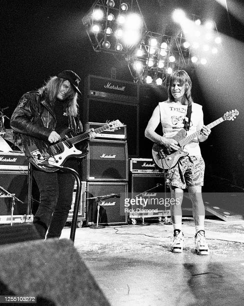 Kevn Kinney of Drivin' N' Cryin' and Nigel Tufnel of Spinal Tap perform at The Fox Theater in Atlanta Georgia, June 12, 1992 (Photo by Rick...
