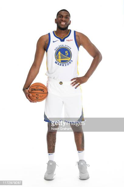 Kevon Looney of the Golden State Warriors poses for a portrait during media day on September 30 2019 at the Biofreeze Performance Center in San...