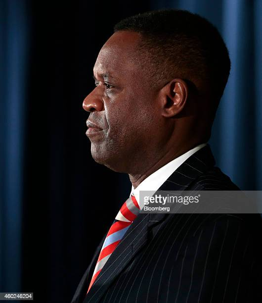 Kevyn Orr, emergency manager for Detroit, listens during a news conference at police headquarters in Detroit, Michigan, U.S., on Wednesday, Dec. 10,...