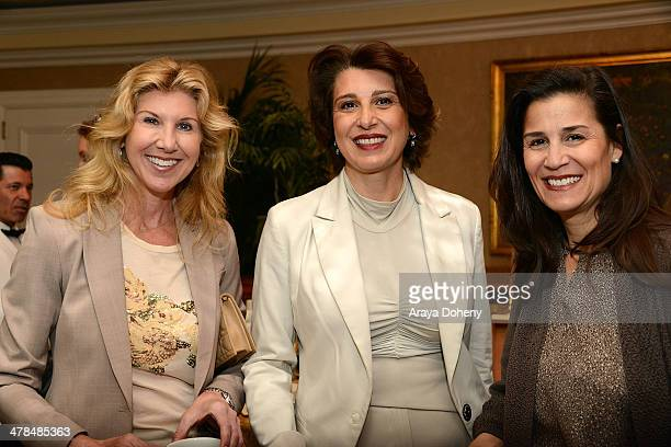 Kevyn Wynn and Avid Shooshani attend the Women ARE salon featuring Jaqueline Novogratz at the Beverly Hills Hotel on March 13 2014 in Beverly Hills...