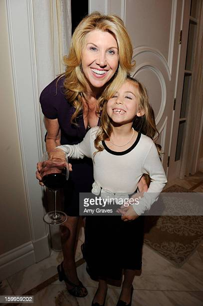Kevyn Wynn and daughter Zoe Friedman attend Kevyn and Elaine Wynn's Dinner for Communities In Schools on January 23 2013 in Brentwood California