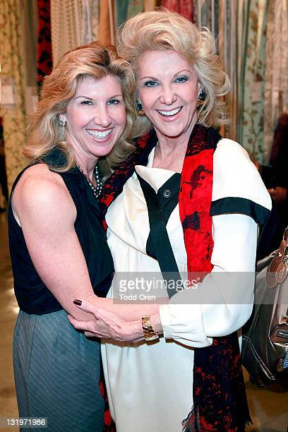 Kevyn Wynn and Elaine Wynn pose at the Scalamandre Cocktail Party in Honor of Elaine Wynn and Communities in Schools at Scalamandre on November 8...