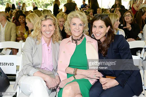 Kevyn Wynn Elaine Wynn and Gillian Wynn attend Annual HEART Brunch Featuring Stella McCartney on April 14 2016 in Los Angeles California