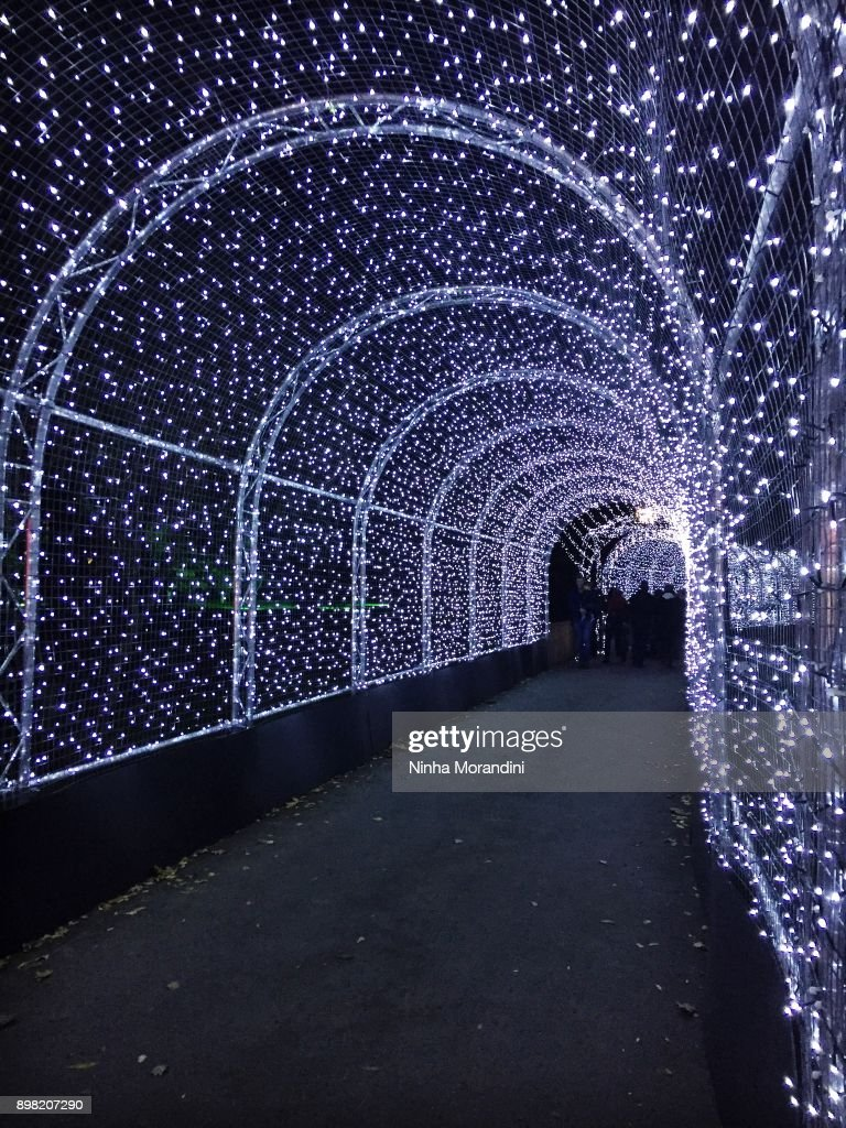 Christmas Runway Lights.Kew Gardens Christmas Lights High Res Stock Photo Getty Images