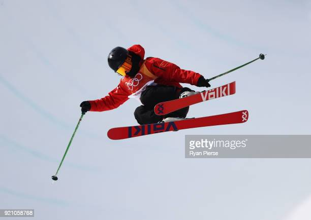 Kexin Zhang of China competes during the Freestyle Skiing Ladies' Ski Halfpipe Final on day eleven of the PyeongChang 2018 Winter Olympic Games at...