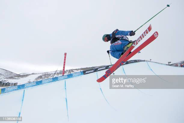 Kexin Zhang of China competes in the Ladies' Ski Halfpipe of the FIS Freestyle Ski World Championships on February 09 2019 at Park City Resort in...