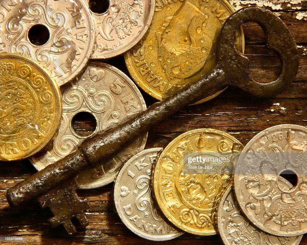 Key and Kroner II : Stock Photo