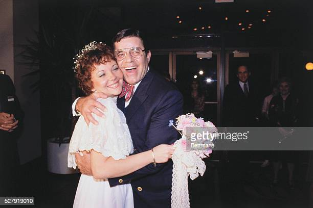 Jerry Lewis with his new bride Sandra Pitnick his longtime companion Lewis 57 and recently recovered from heart surgery married the 32yearold Pitnick...