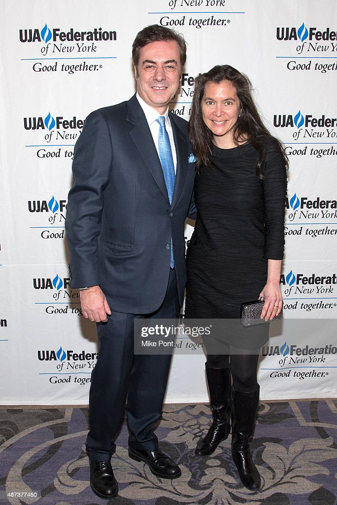 Key Brand Entertainment owner and CEO John Gore and Theater Director Diane Paulus attend the 2015 UJA Federation Of New York Excellence In Theater Award Dinner at The St Regis New York on March 23, 2015 in New York City.