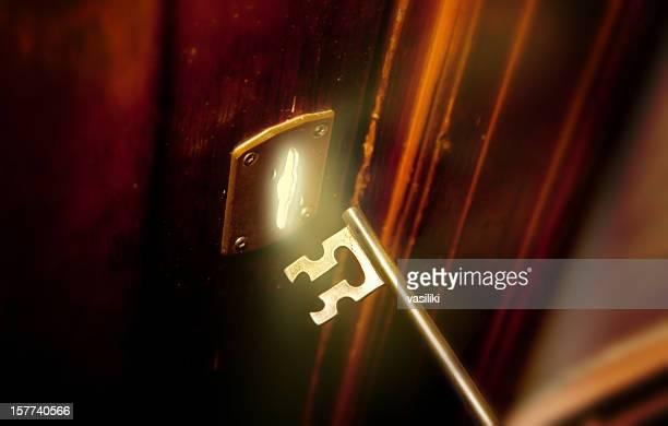Key entering keyhole