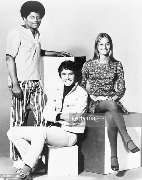 TV Key Feature Right to Left Peggy Lipton Michael Cole and Clarence Williams III costars of the Mod Squad TV series