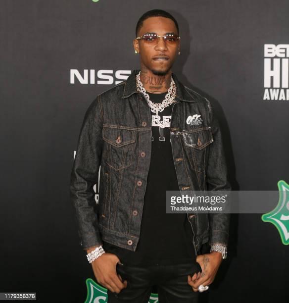 Key Glock arrives to the 2019 BET Hip Hop Awards on October 05 2019 in Atlanta Georgia