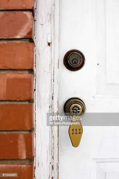 Key in the door and room 111