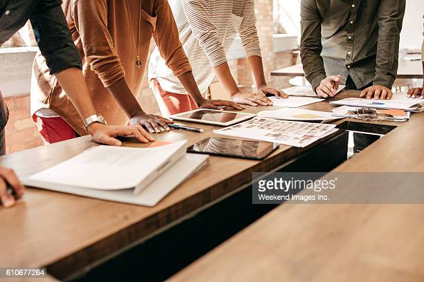 key ingredients for effective cross-functional working meetings - planning stockfoto's en -beelden