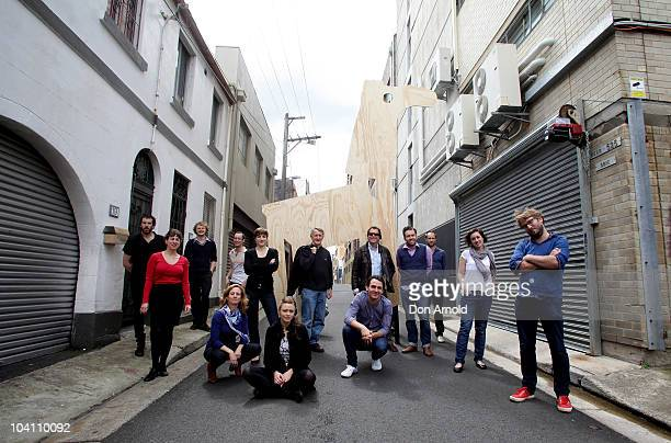 Key members of Company B pose at the 2011 season launch at the Belvoir Street Theatre on September 15 2010 in Sydney Australia
