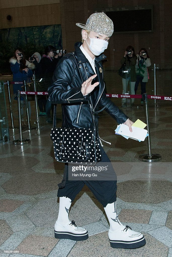 Key of South Korean boy band SHINee is seen on departure to Japan at Gimpo International Airport on April 2, 2013 in Seoul, South Korea.