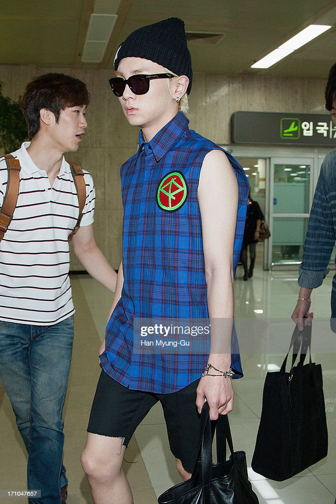 Key of South Korean boy band SHINee is seen upon arrival at Gimpo International Airport on June 21, 2013 in Seoul, South Korea.