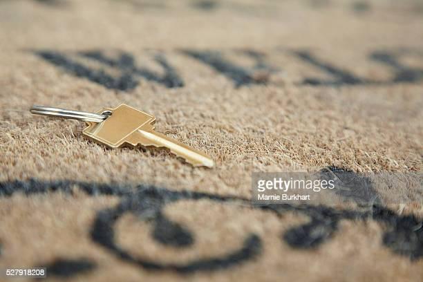 Key on 'Welcome' doormat