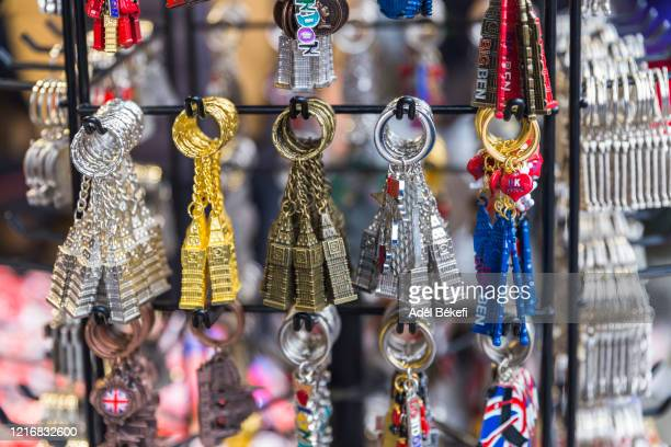 key ring for sale at the market  (london, england) - general view stock pictures, royalty-free photos & images