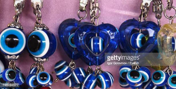 Key Rings For Sale At Market Stall