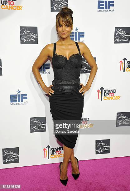 Key To The Cure Ambassador Halle Berry attends Saks Fifth Avenue celebrates Key To The Cure at Mr Chow on October 10 2016 in Beverly Hills California